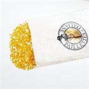 Пайетки 3мм плоские Оранж АВ #0126В/3мм Италия,  прозрачные АВ