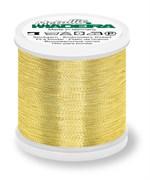 Нитки Madeira Metallic №40, 200м, Gold 6 (Золотой, 200 метров)