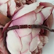 Пайетки 4мм плоские на нитке, Бронза металлик, Ливан