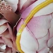 Пайетки 4мм плоские на нитке, Желтый Радужный, Ливан