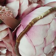 Пайетки 4мм плоские на нитке, Матовое Золото Металлик, Ливан