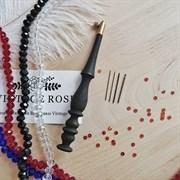 Люневильский крючок с 4-мя иглами бренда Vintage Rose Шахматы, Эбеновое дерево