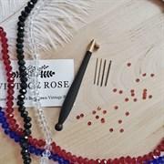 Люневильский крючок БЕЗ ИГЛ бренда Vintage Rose Эбеновое дерево