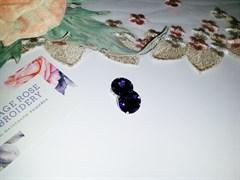 Риволи в цапах, 16мм, Тёмно-фиолетовый.2 шт/уп