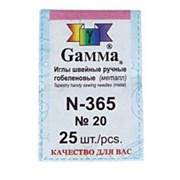 """Иглы для шитья ручные """"Gamma"""" N-365 гобеленовые №20 25 шт. в конверте острые"""