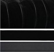 Лента бархатная, цвет № 03-черный,ширина10-38 мм  (1метр)