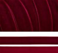Лента бархатная, цвет № 44-бордо,ширина 20-25 мм  (1метр)
