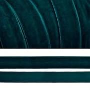 Лента бархатная, цвет № 39-тём.зелёный.Ширина 20 мм  (1метр)