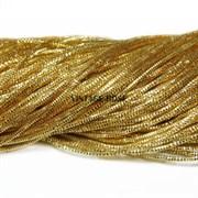 Граненный трунцал, 1 мм, Темное Золото