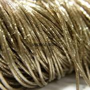Граненный трунцал, 1 мм,  Золото