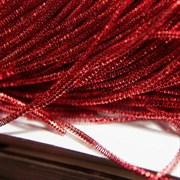 Граненный трунцал, 1 мм, Королевский красный
