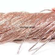 Граненный трунцал, 1 мм,  Розовое золото