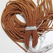 Канительный шнур, 4 мм, золото и рубин