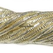 Граненный трунцал, 3 мм, Светлое Золото (Светлое золото)