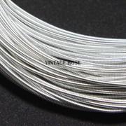 Жесткая (жемчужная) канитель, 1 мм, Серебро
