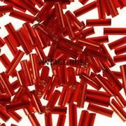 Бисер стеклярус АСТРА 5 мм непрозрачный/цветной красный (25), 20г