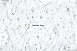 Бисер стеклярус АСТРА 5 мм  непрозрачный/цветной белый (41), 20г