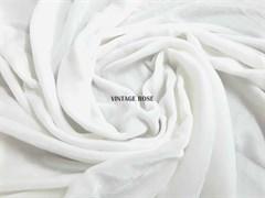 Шелковый бархат, цвет молочный (Франция)