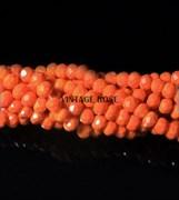 Граненые бусины, ярко-апельсиновый, 3 мм, Чехия